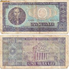 Bancnote Romanesti - Bancnota 100 Lei - 1966
