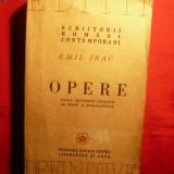 EMIL ISAC - OPERE - 1946 - Carte Editie princeps