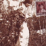 Romania, carte postala 1910, circulata 1929 TCV: Costum national, Fotografie