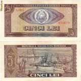 * Bancnota 5 lei 1966