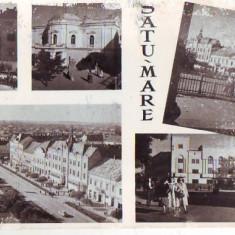 Carti Postale Romania dupa 1918 - R 8199 VEDERE -SATU MARE CIRCULATA