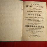 Ordinea Oficiilor Divine -pt.Uzul Clerului -ed. 1850 - Carti bisericesti