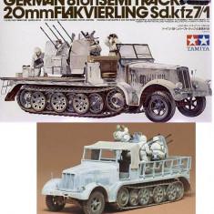 + Macheta Tamiya 35050 1:35 - Sd.kfz 8 ton 7/1 w flak and crew + - Macheta auto