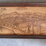 Tablou - Panorama orasului Cluj-Napoca in sec. XVII - Pirogravura