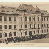SIBIU : SEMINARUL ANDREIAN - animata, circulata, timbre - Carte Postala Romania 1904-1918, Circulata, Fotografie