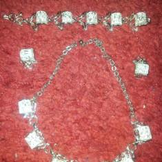 Set bijuterii dama bratara, cercei, neckles material foarte usor