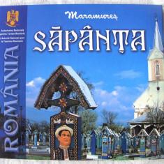 MARAMURES - SAPANTA, Album ilustrat, text bilingv roman - francez. Absolut nou - Carte Arta populara