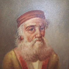Superba litografie pensulata, veche semnata A Santocano