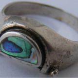 Inel vechi din argint cu sidef (2) - de colectie