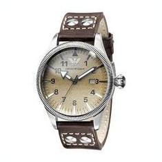 Ceas armani - Ceas barbatesc Armani, Lux - elegant, Quartz, Inox, Piele, Cronograf