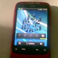 Telefon mobil HTC Wildfire, Rosu, Neblocat - HTC Wildfire A3333 Android 2.3.7 CYANOGENMOD 7.2