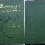 Carte Editie princeps - Dr. Eusebiu R. Rosca, Monografia Institutului seminarial teologic - pedagogic Andreian, Sibiu, 1911, editia 1 in legatura de lux, cu autograf