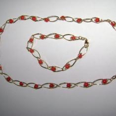 Set bijuterii aur - Superb colier si bratara aur 18 k