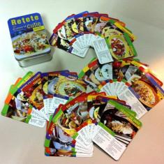 Carte Retete culinare internationale - Retete culinare- paste/Cutie metalica cu 50 retete/ Bonus: mașină răzătoare.