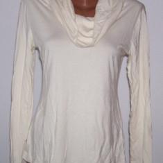 Bluza dama alba H &M marime L USA, Marime: L, Maneca lunga, Universala, Bumbac