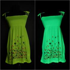Rochie de zi, Bumbac - Rochii si maieuri UV neon, de efect marimi universale