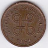 Finlanda Suomen Tasavalta 5 PENNIA 1969