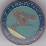 Insigna sport Cupa Drumarilor SKI A. S. Proiectantul