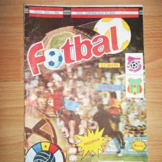 ROMANIA PROGRAM MECI FOTBAL SC BACAU - STEAUA BUCURESTI 5 NOIEMBRIE 1989 **