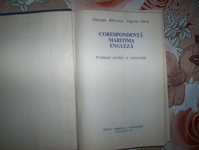 Corespondenta maritima engleza(probleme juridice si comerciale)-GH.BIBICESCU,E.FARCA foto mare