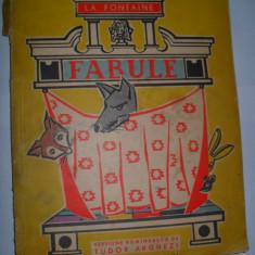 LA FONTAINE - FABULE {versiune romaneasca de TUDOR ARGHEZI. cu ilustratii} - Carte educativa