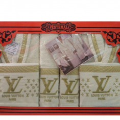 Set 6 Piese LOUIS VUITTON !!! 2 Halat Baie, 2 Prosop Corp, 2 Prosop Fata Calitate Deosebita! Bumbac 100%