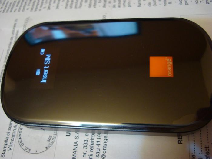 Modem/Router WiFi-MiFi/Hotspot portabil Huawei AirNet H+ E587 / E587u-2, nou in tipla, sigilat, NECODAT, gar. REALA Orange 24 luni foto mare