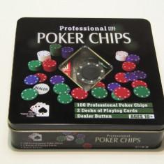 Set poker Profesional 100 piese, Numar jetoane: 100