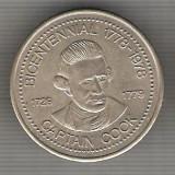 C356 Medalie Bicentenar Capitan Cook(1729-1779) 1778-1978 ?-Chief Maquinna...-marime cca 34mm, gr. aprox 14 gr. -starea care se vede