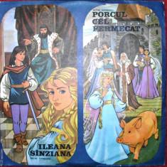 ILEANA SANZIANA si PORCUL CEL FERMECAT de PETRE ISPIRESCU (DISC VINIL) - Muzica pentru copii electrecord