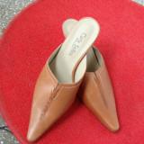 Pantof PAPUC piele CARLA SELLINI nr37 - Pantofi dama, Culoare: Maro, Maro