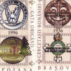 CINDERELA 60 ANI JAMBOREEA NATIONALA 1996 2 COLITE - Timbre Romania, Nestampilat