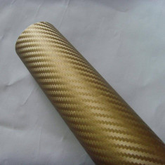 Colant carbon 3d auriu - Folii Auto tuning