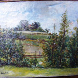 Tablou, Peisaje, Impresionism - Peisaj semnat Isac Antcher
