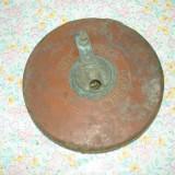 Metal/Fonta - VECHE RULETA IMBRACATA IN PIELE PT RECONDITIONAT