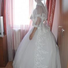 Rochie de mireasa printesa - Rochie de Mireasa, Voal + Trena + Poseta