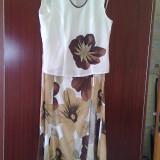 Costum de vara - Costum dama, Marime: 40, Culoare: Multicolor, Costum cu fusta