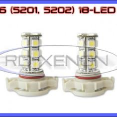 Led auto ZDM, Universal - BEC AUTO LED LEDURI H16 5201, 5202 18 SMD - LOGAN PH2 DRL FAZA LUNGA PROIECTOARE