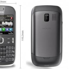 Nokia asha 302 - Telefon mobil Nokia Asha 302, Gri, Neblocat