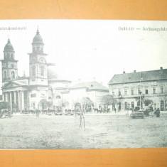 Carte postala Satu Mare Szatmarnemeti Deak - ter Szekesegyhaz 1914