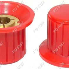 Buton plastic, rosu - 127008