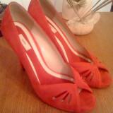 Pantofi Zara nr. 38 - Pantof dama Zara, Culoare: Rosu, Rosu