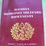ISTORIA MEDICINEI MILITARE ROMANESTI GHEORGHE SANDA (CU SEMNATURA AUTORULUI )
