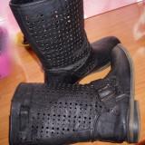 Vand cizme dama primavara, Marime: 40, Negru