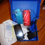 Vand nokia 500 SI samsung s 5230 star - Telefon mobil Nokia 500, Negru, 2GB, Neblocat, Single core, 256 MB