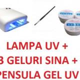 Lampa uv unghii - Lampa 36 w profesionala unghii false kit set manichiura geluri constructie