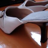 Pantofi Saboti Papuci Albi PIELE 37 Reducere 29 lei TRANSPORT GRATUIT Oferta