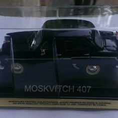 Macheta metal DeAgostini Moskvitch 407 + revista Masini de Legenda nr.19 - Macheta auto, 1:43