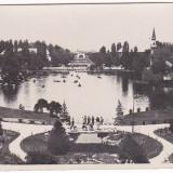 Bucuresti carte postala Parcul Carol, animata, aprox 1920, edit Leonar, PERFECTA
