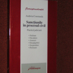 SANCTIUNILE IN PROCESUL CIVIL - ANDREIA CONSTANDA - Carte Drept civil